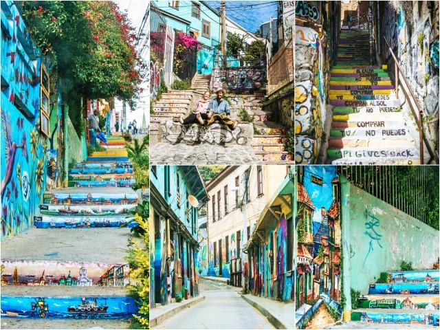 BarfussUmDieWelt-JonathanvonRosenberg-KataleyavonRosenberg-Chile-Valparaiso-Straßenkunst-Kunst-Treppen-barfuß-5