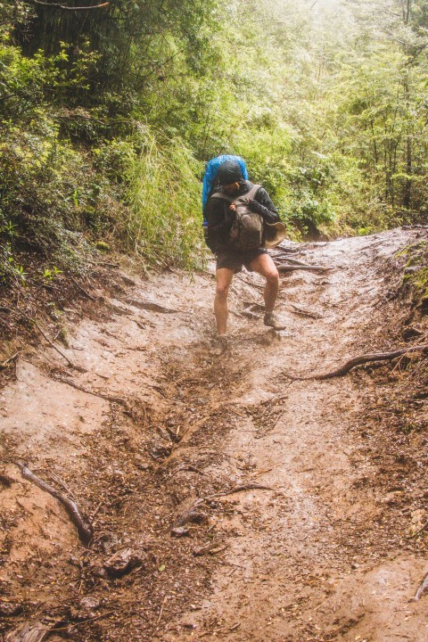 BarfussUmDieWelt-JonathanvonRosenberg-Verantwortliche-Schritt-Chile-Villarrica-Cani-Nationalpark-Abstieg-barfuß