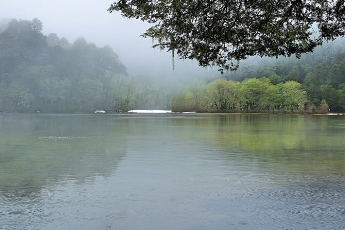 BarfussUmDieWelt-JonathanvonRosenberg-Verantwortliche-Schritt-Chile-Villarrica-Cani-Nationalpark-See-barfuß